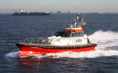 pilot boat approaching vessel