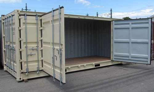 leased open-sided container