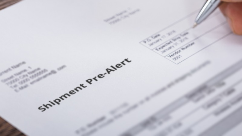 What is a Pre-Alert in Shipping?